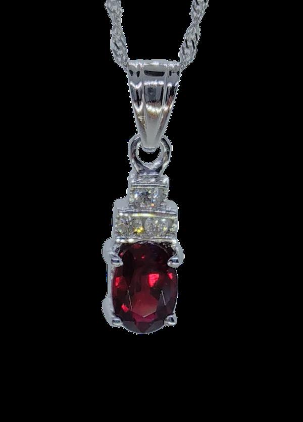 Ruby Diamond Pendant - image 1