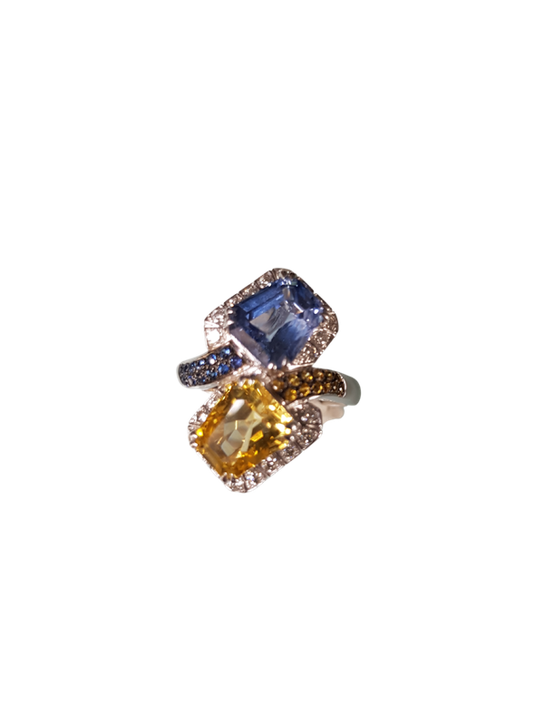 A Sapphire Cocktail Ring by Chatila Offered by The Gilded Lily - image 1