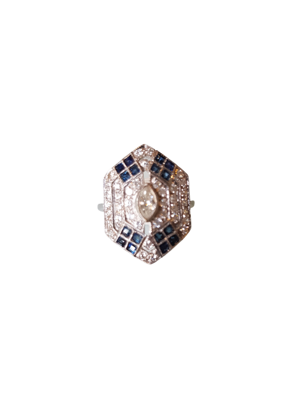 A Pretty Ring of Deco Style Offered by The Gilded Lily - image 1