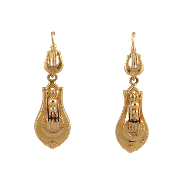 Date: circa 1900, 18ct Yellow Gold Earrings, SHAPIRO & Co since1979 - image 1
