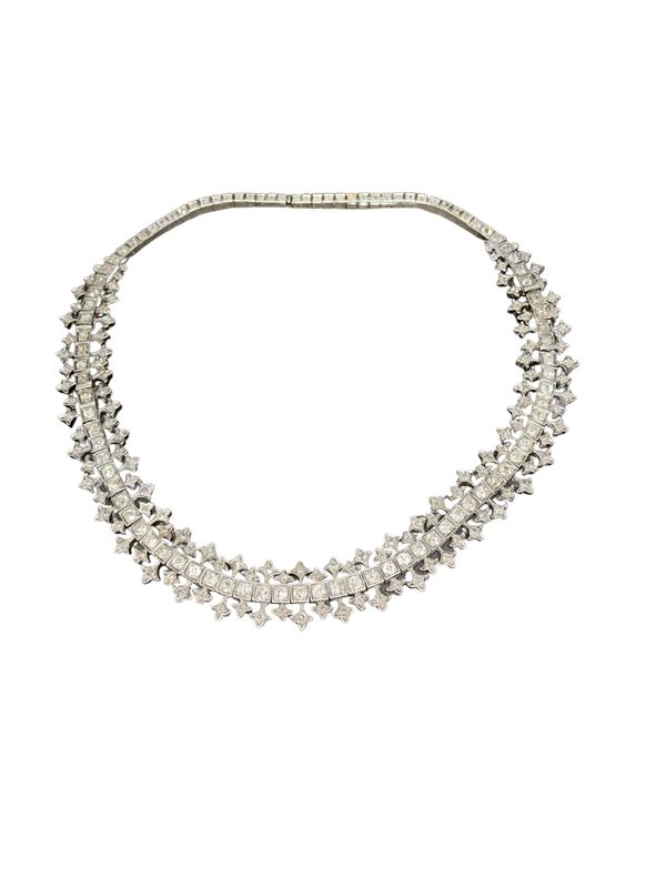 Diamond necklace C19 th - image 1