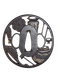 Japanese Meiji Period iron tsuba - image 1