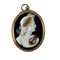 Late eighteenth century cameo of Apollo in original frame - image 1