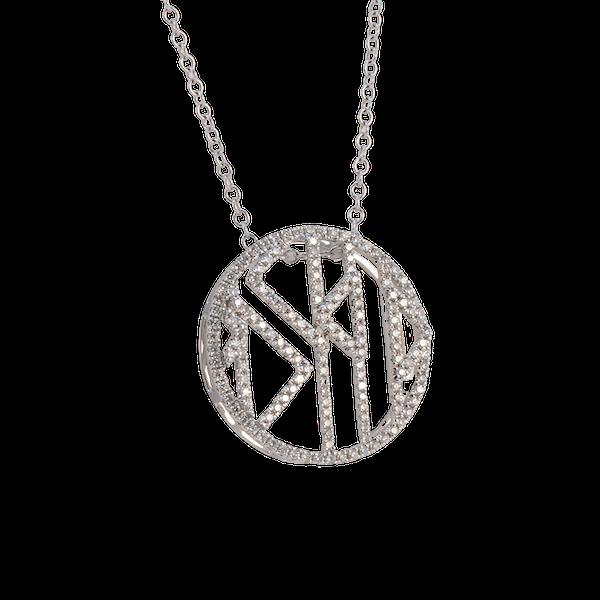 Date: 2010's, 18k White Gold Diamond Pendant by Lilly Shapiro, SHAPIRO & Co since1979 - image 6