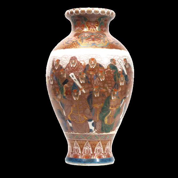 Japanese vase with decoration of scholars - image 1