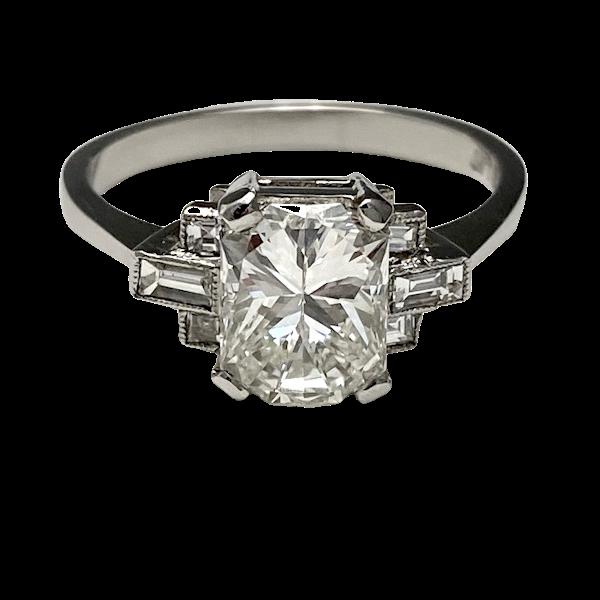 Diamond Ring in Platinum 2ct Diamond SHAPIRO & Co since1979 - image 8
