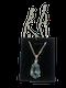 Vintage French Aquamarine and diamond pendant set in 18ct white gold - image 1