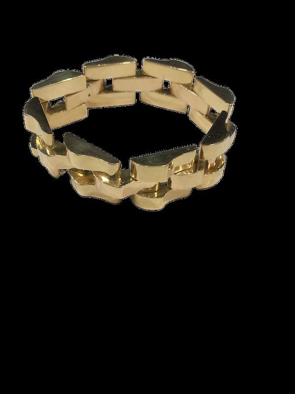 1940's Tank Design Bracelet - image 1