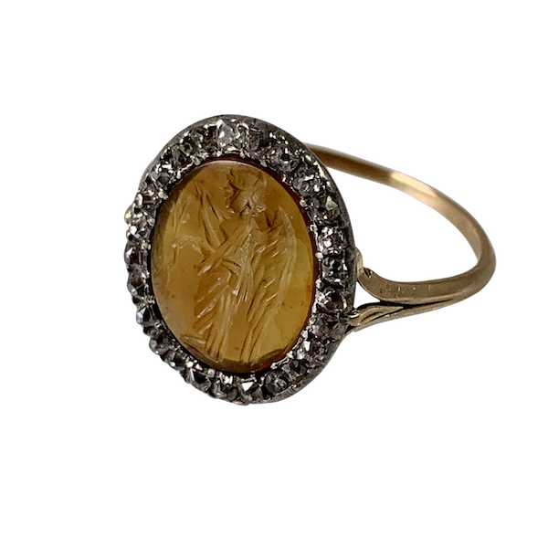 Eighteenth century Grand Tour ring with ancient intaglio - image 1