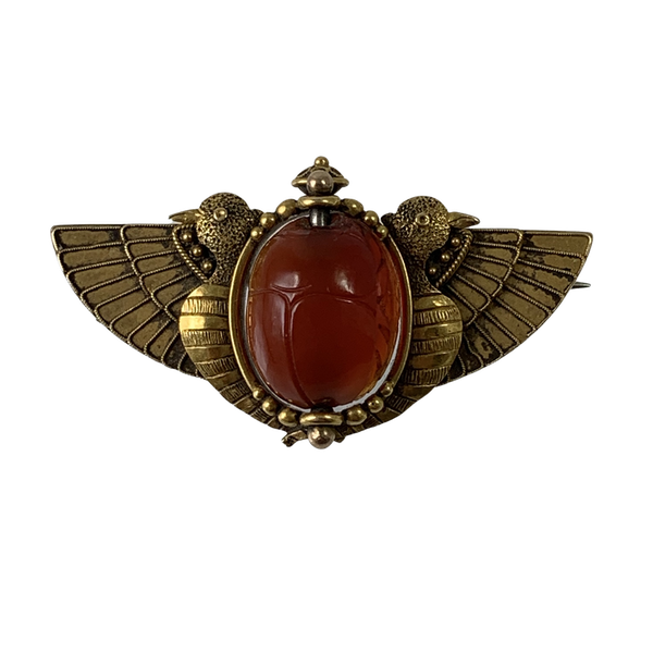 Ancient revival gold brooch - image 1