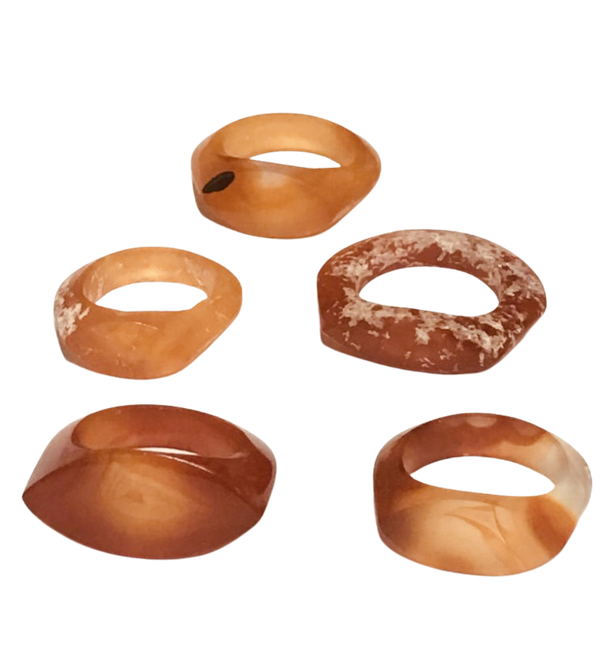 Agate rings - image 1