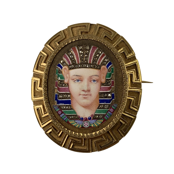 French enamelled gold brooch - image 1