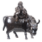 Japanese bronze figure of a sage on a cow - image 1