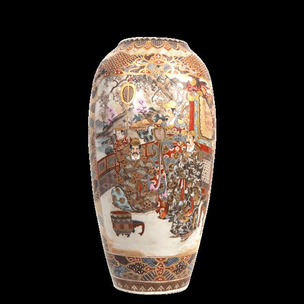 Japanese satsuma vase with Samurai - image 1