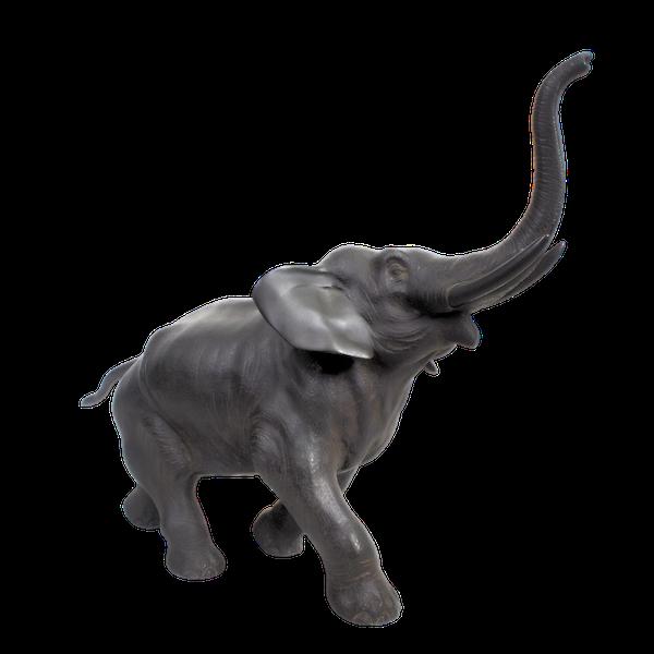 Japanese bronze elephant okimono - image 1