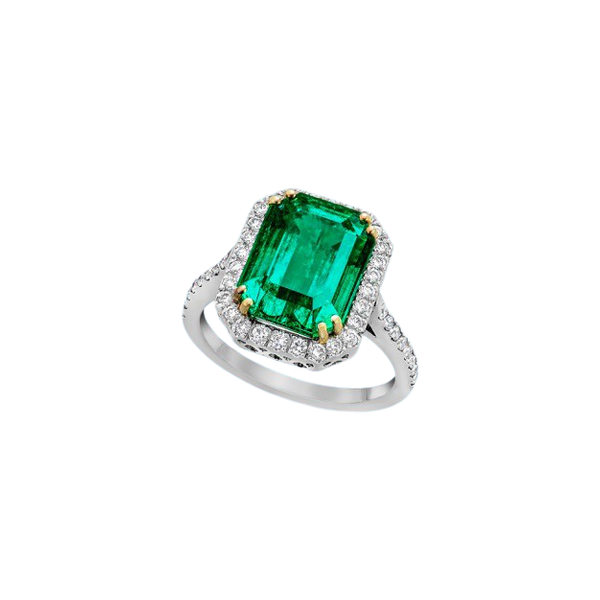 A Magnificent Emerald Dress Ring Offered by The Gilded Lily - image 4