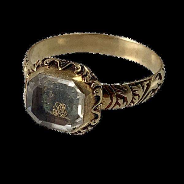 Seventeenth century Memento Mori ring - image 1