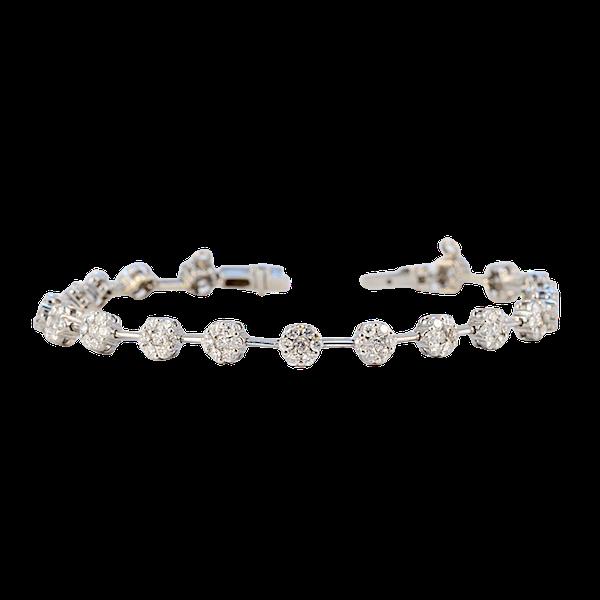Diamond Bracelet in 18ct White Gold date circa1960  SHAPIRO & Co since1979 - image 1