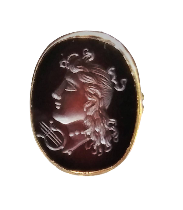 Antique Carnelian Carved Ring - image 1