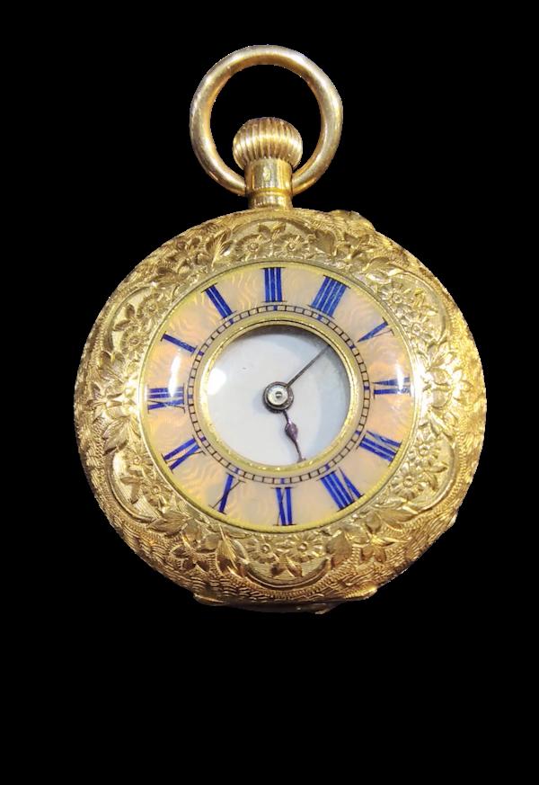 Antique Lady's Half Hunter Pocket Watch C1900. - image 1