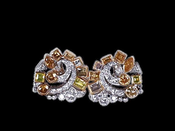 Awesome coloured diamond earrings sku 4809 DBGEMS - image 1