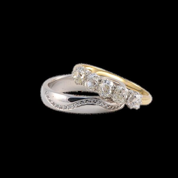 Wedding Band in 18ct White Gold & Diamonds date circa 2015 SHAPIRO & Co since1979 - image 1