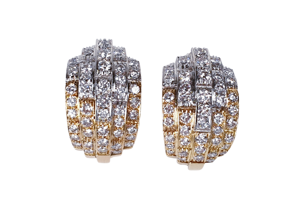 Stunning diamond earrings Sku 4811  DBGEMS - image 1