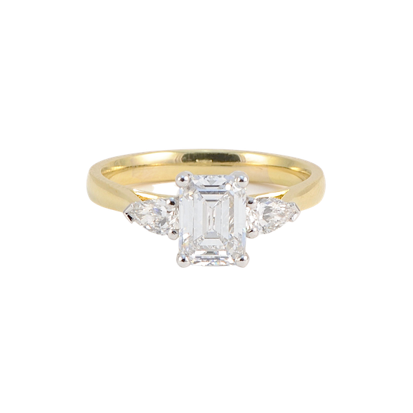 Emerald Cut Diamond Ring in 18ct Gold & Platinum 1.28ct/D/VS2 date London 2019 SHAPIRO & Co since1979 - image 1