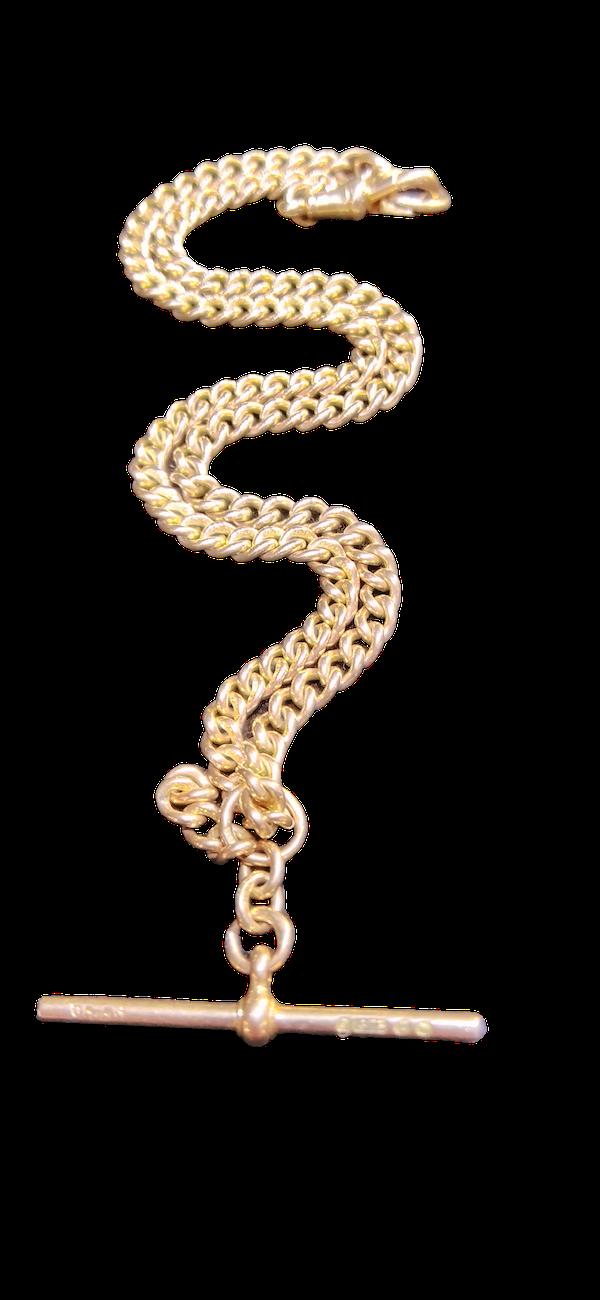 9ct Rose Gold Albert Chain....C1891 - image 1