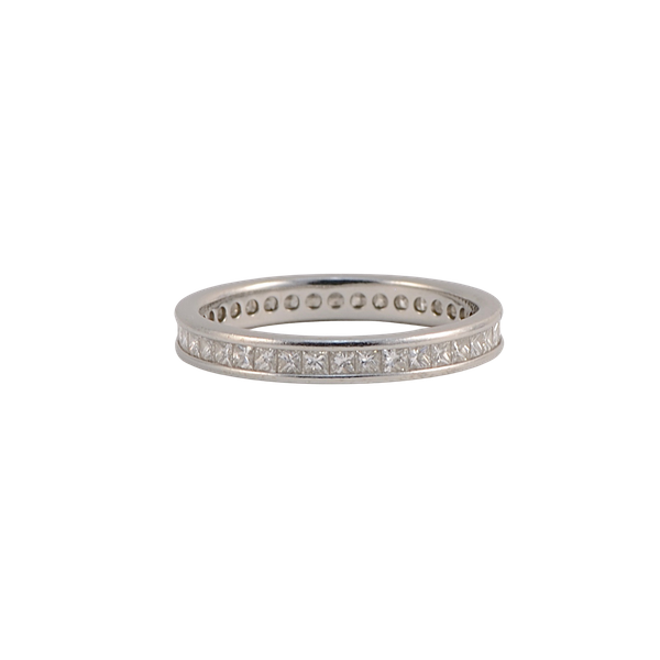 Diamond Eternity Ring in Platinum date cira1990 SHAPIRO & Co since1979 - image 1