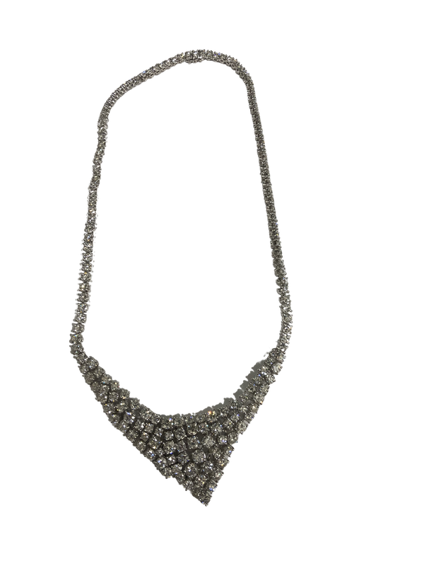 Modern diamond necklace - image 1