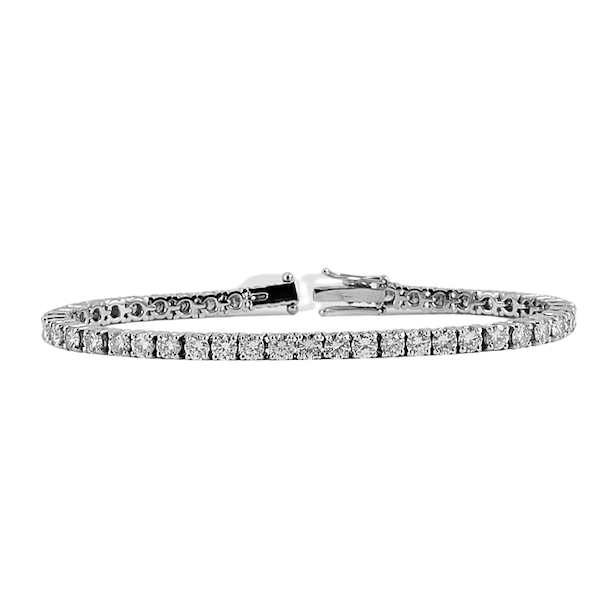 Diamond Line Bracelet in 18ct White Gold date circa 1960 SHAPIRO & Co since1979 - image 1