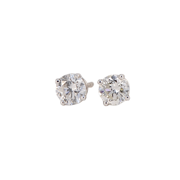 Diamond Studs Earrings in 18ct White Gold 1.30ct total weight date circa 1960 SHAPIRO & Co since1979 - image 1