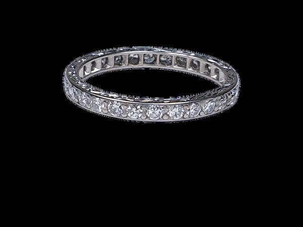 Art deco diamond eternity band SKU 4827  DBGEMS - image 1
