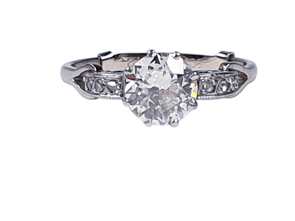 Art deco diamond engagement ring sku 4832  DBGEMS - image 1
