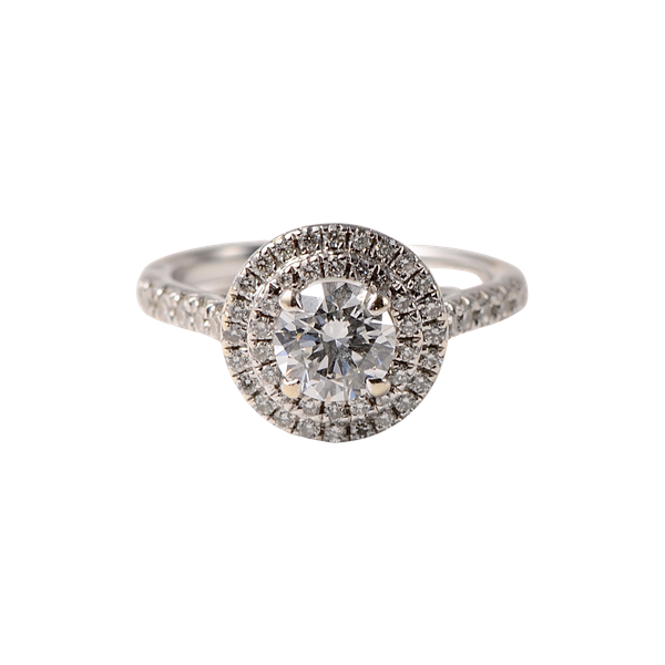 Diamond Halo Ring in 18ct White Gold date circa 1980 SHAPIRO & Co since1979 - image 4