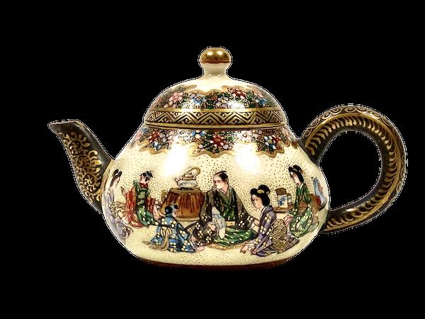 Japanese Satsuma pottery wine pot - image 1