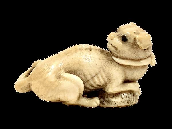 Netsuke of puppy - image 1