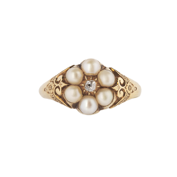 A Pearl Diamond cluster ring - image 1