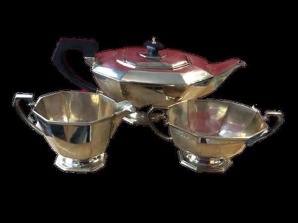 A silver Art Deco tea set - image 1