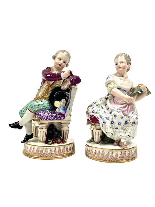 Pair of Meissen figures - image 1