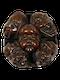 Wood Netsuke of masks - image 1