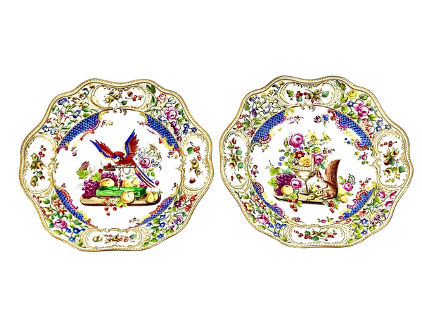Pair of reticulated 19th century Meissen plates - image 1