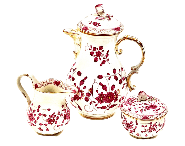 Meissen coffee pot, milk jug and sugar box - image 1