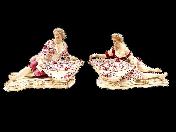 Pair of Meissen figural sweetmeats - image 1