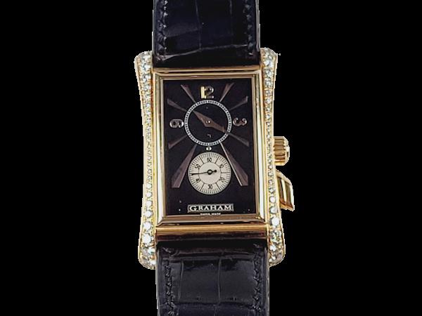 Graham 18ct gold and diamond manual watch sku 4851  DBGEMS - image 1