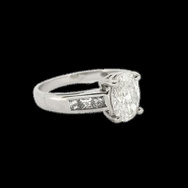 1.22ct Oval Diamond Ring - image 1