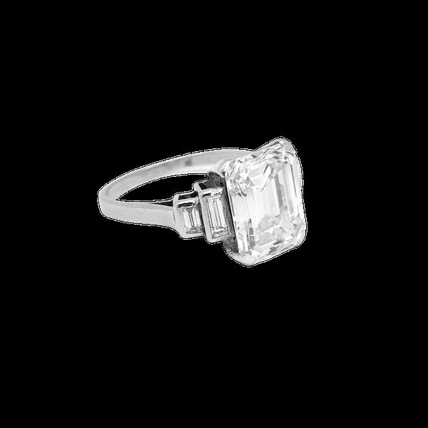 Original Art Deco Emerald Ring in Platinum - image 1