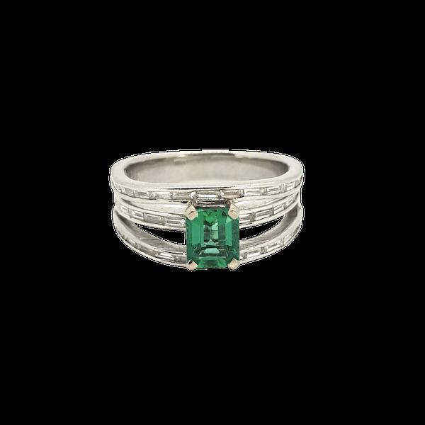 Emerald and Diamond ring - image 1