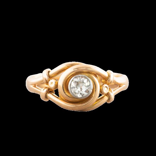 An Art Nouveau Diamond ring - image 1